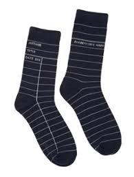 Socks Library Card Navy Large