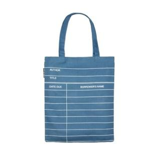 Tote Library Card Blue