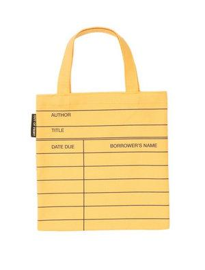Tote Library Card Yellow (kids)