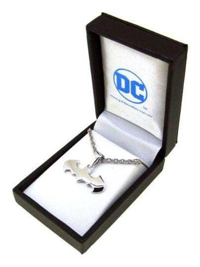 Batman Pendant Rhodium Plated Sterling Silver with Bail