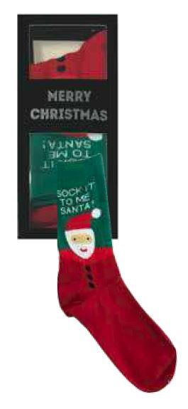 SANTA SAY IT WITH SOCKS