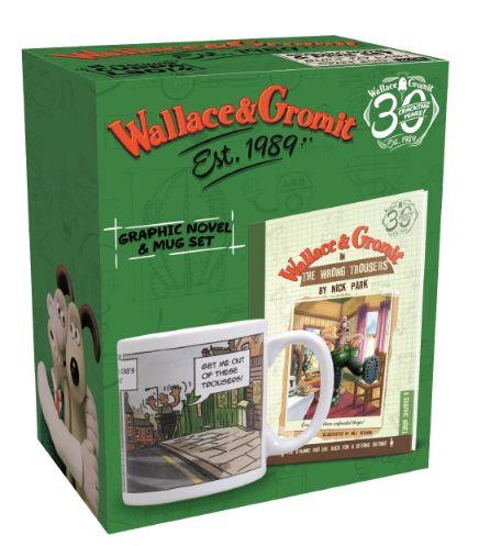 Giftset Book & Mug Wallace & Gromit (The Wrong Tr