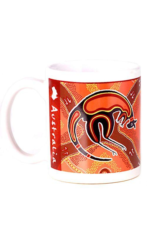 DOT ART MUG KANGAROO
