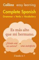 Collins Easy Learning Complete Spanish Grammar Ve