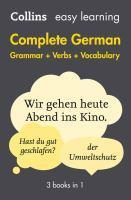 Collins Easy Learning Complete German Grammar Ver