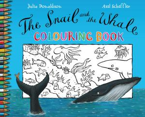 SNAIL AND THE WHALE COLOURING BOOK THE