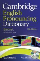 CAMBRIDGE PRONOUNCING DICTIONARY