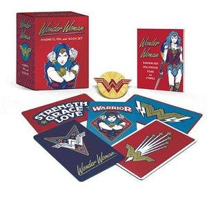 Wonder Woman Magnets Pin and Book Set
