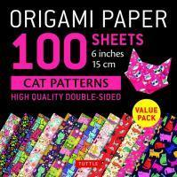 Origami Paper 100 sheets Cat Patterns