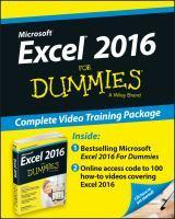 Excel 2016 for Dummies Book + Videos Bundle