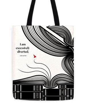 Jane Austen Diverted Tote