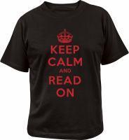 Keep calm and read on t-shirt small