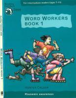 Reading Freedom Word Workers Book 1: Phonemic Awareness Ages7 11