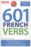 Berlitz 601 Verb Book French
